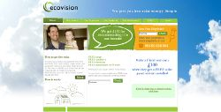 screenshot of ecovision website