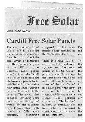 free solar panels Cardiff