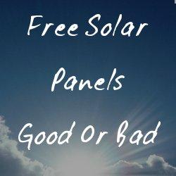 is free solar a good idea