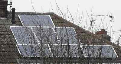 free solar panels installed on private house