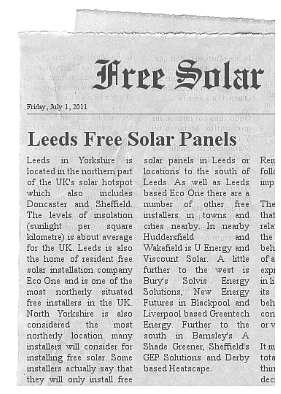 leeds free solar panels