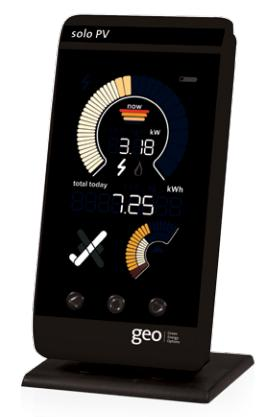 The GEO solo pv for measuring power generated by your solar panels