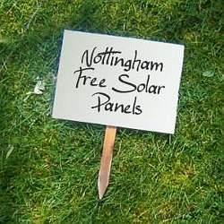 nottingham free solar panels