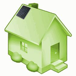 photovoltaic system on house