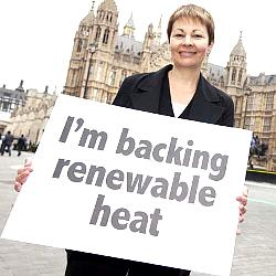 renewable heat incentive backed by green MP Caroline Lucas