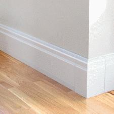 Skirting board radiators