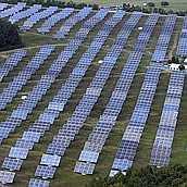 solar farms on green field sites