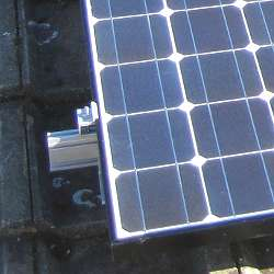 solar panel affixed to roof