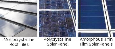 3 types of solar panel