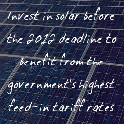 why you should invest in solar before the 2012 deadline